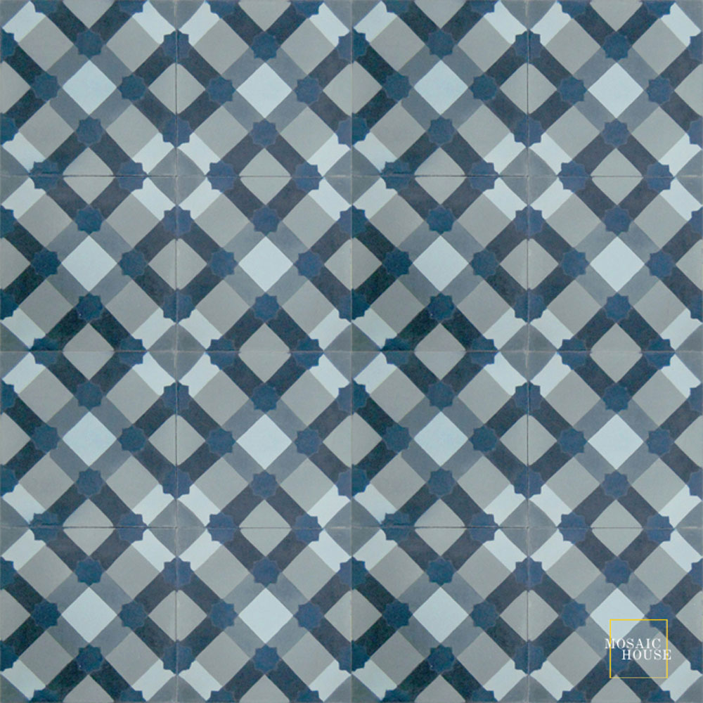 Anemone C41-43-22-29-39 - moroccan cement tile