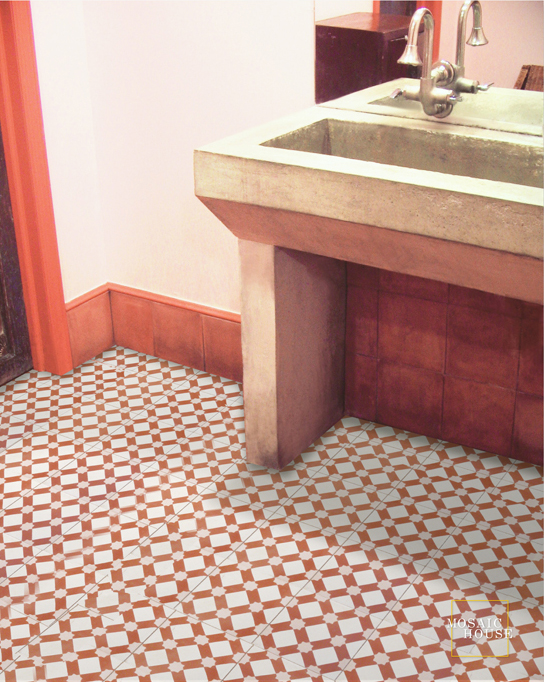 Anemone C14-10-20 - moroccan cement tile