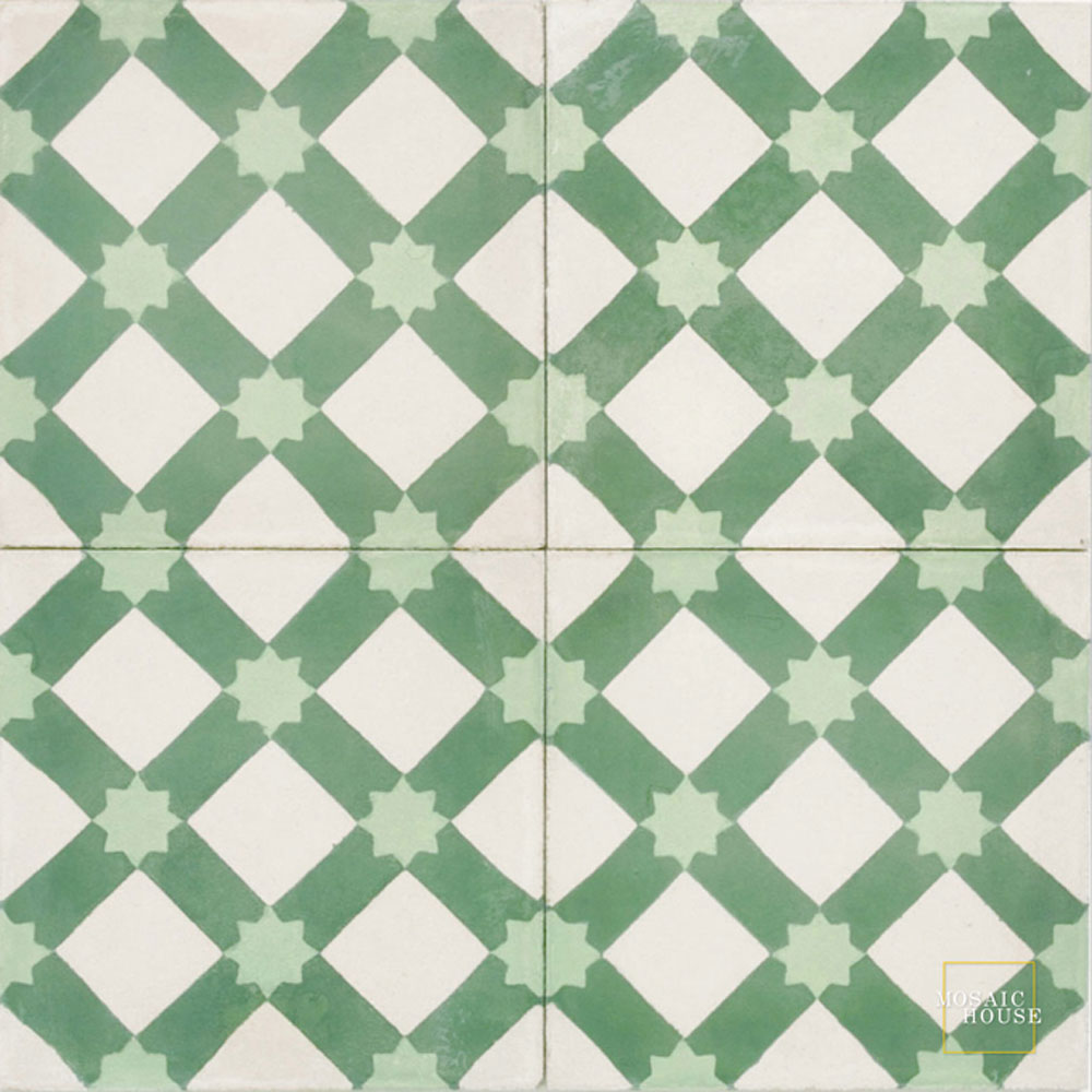 Anemone C14-27-16 - moroccan cement tile
