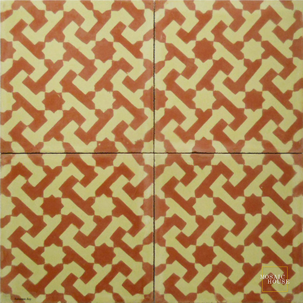 Autumn Joy C10-35 - moroccan cement tile
