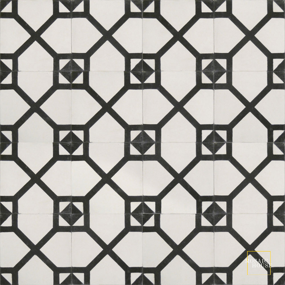 Bordeaux C14-4 - moroccan cement tile