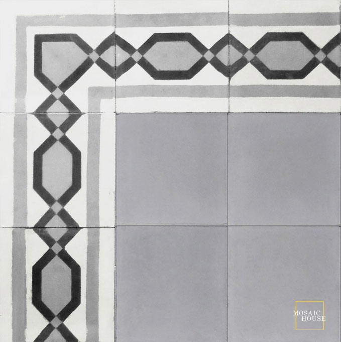 Dfira Border C14-24-4 - moroccan cement tile