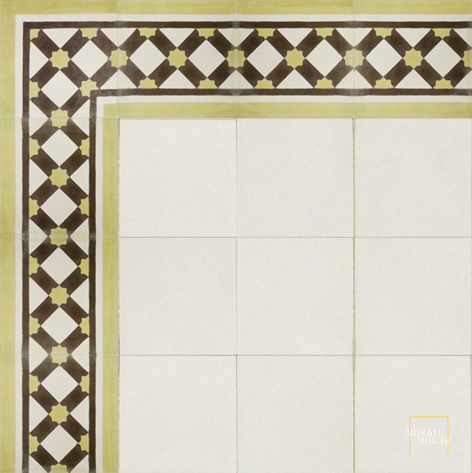 Anemone Border C14-37-5 - moroccan cement tile