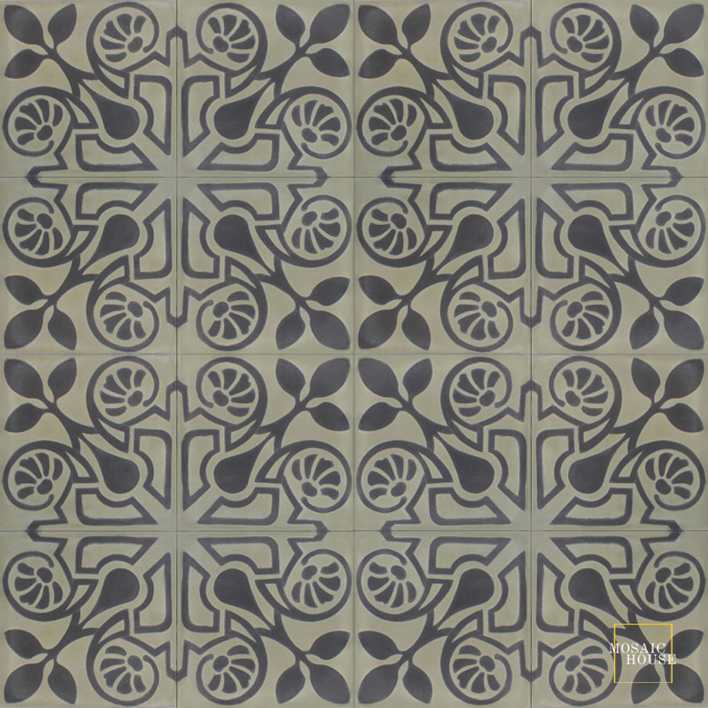 Brooklyn C34-4 - moroccan cement tile