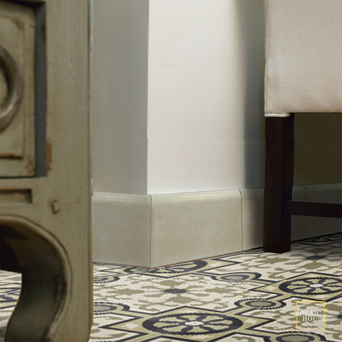 Flat Bullnose C42 - moroccan cement tile