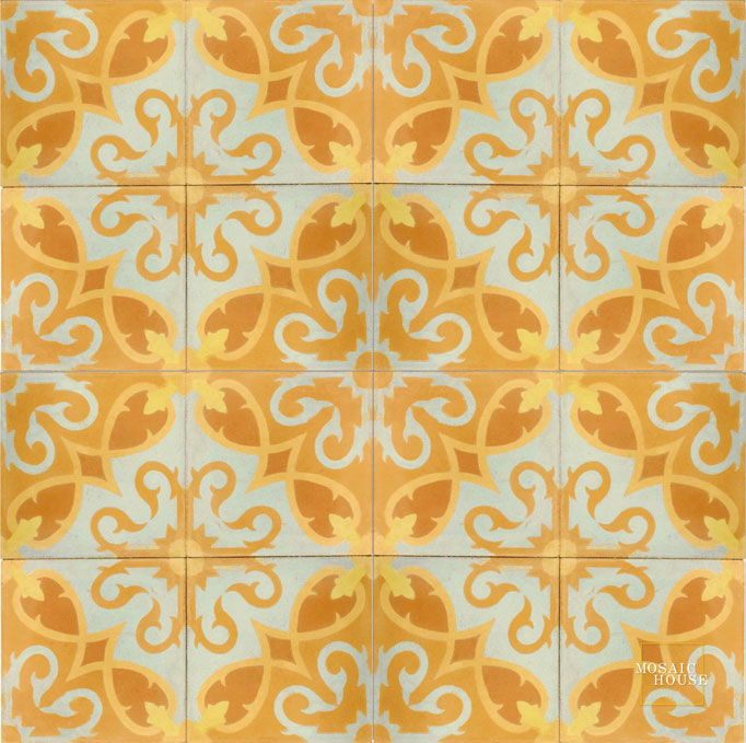 Lucifer C9-16-15-2 - moroccan cement tile