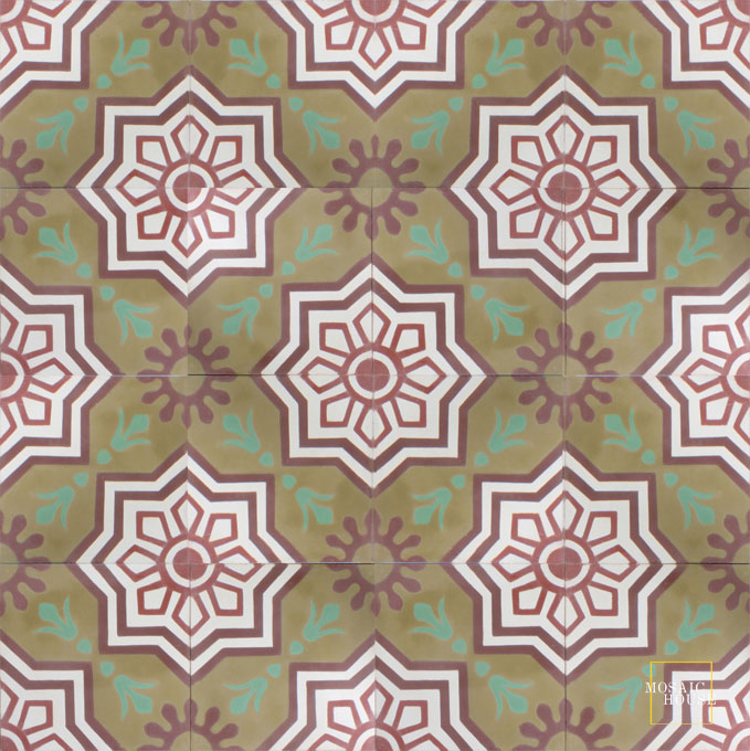 Madera C32-14-26-10-40 - moroccan cement tile