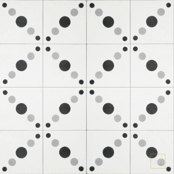 Moon C14-4-24 - moroccan cement tile