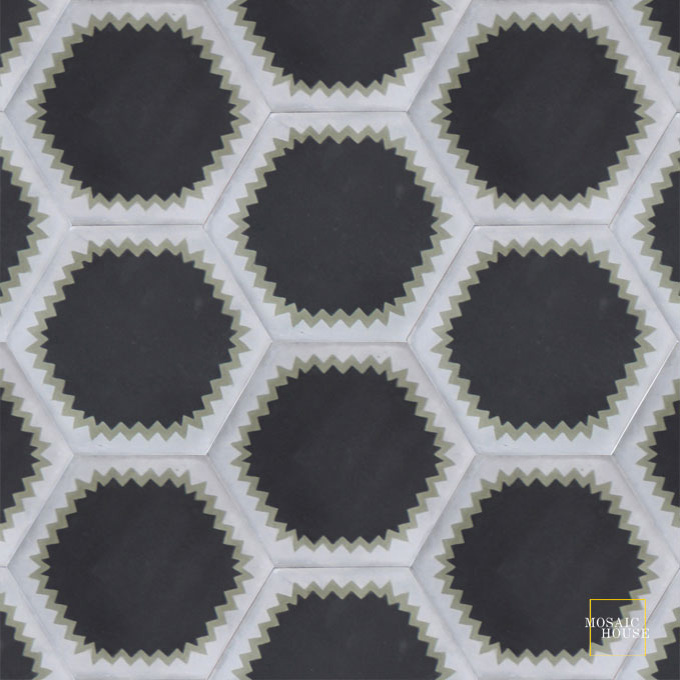 Parisienne Muse C4-34-24 - moroccan cement tile