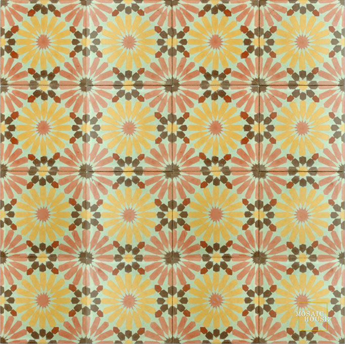 Rugosa C25-15-16-5-10 - moroccan cement tile