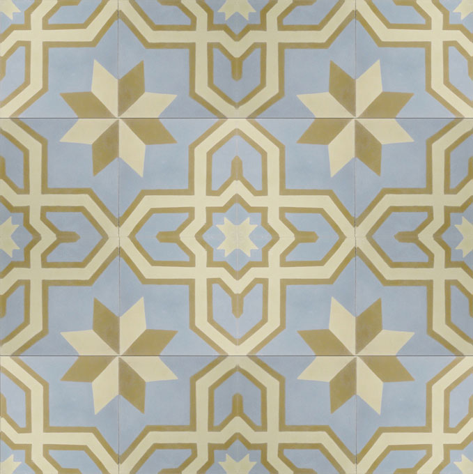 Salvia C39-42-32 - moroccan cement tile