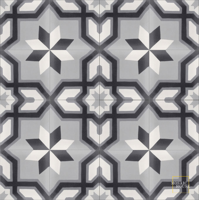Salvia C24-14-4-33 - moroccan cement tile