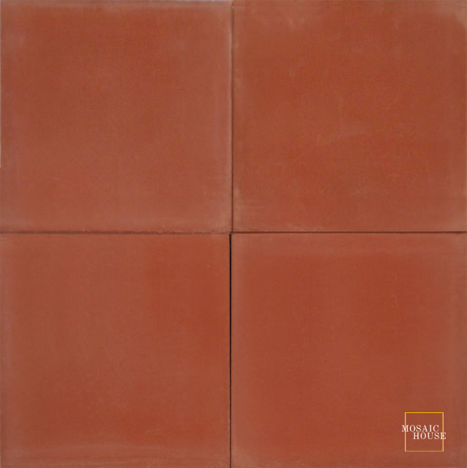 C10 Brick Red - moroccan cement tile