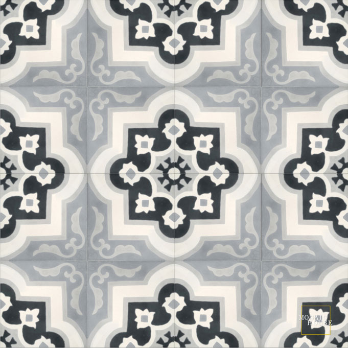 Waterlily C14-4-33-24 - moroccan cement tile