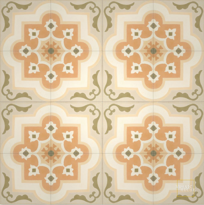 Waterlily C31-28-3-18-32 - moroccan cement tile
