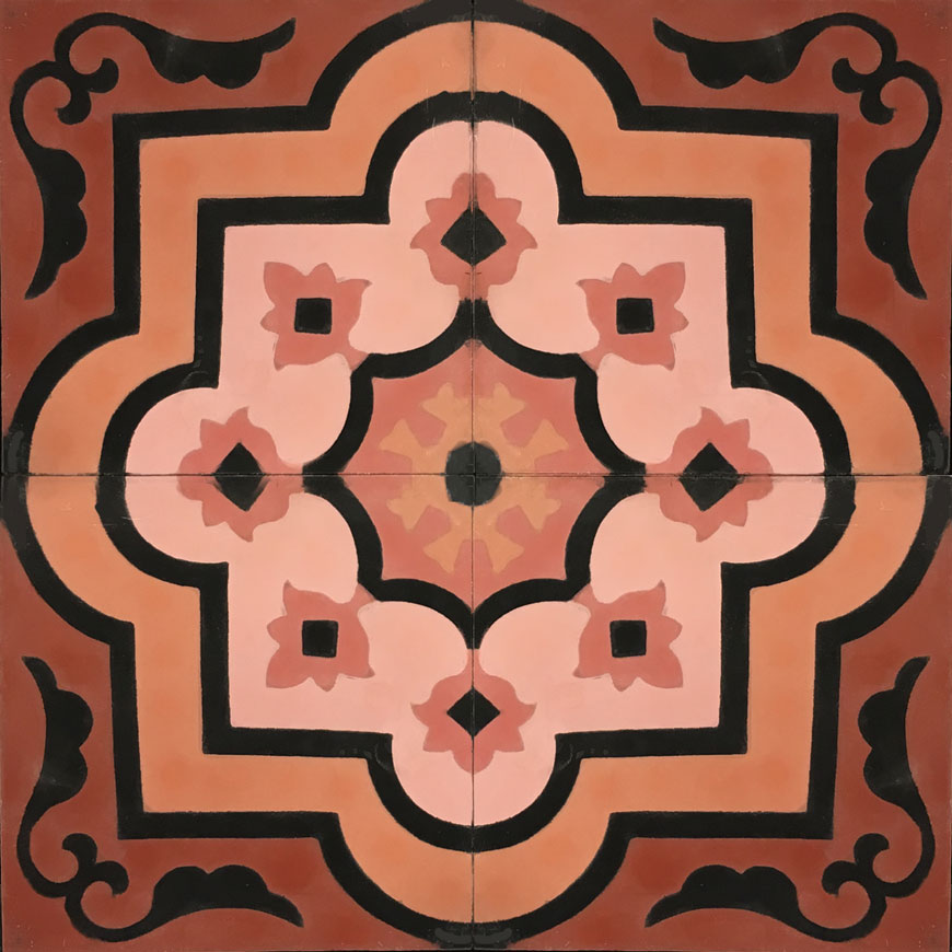 Waterlily C10-21-19-4-25 - moroccan cement tile
