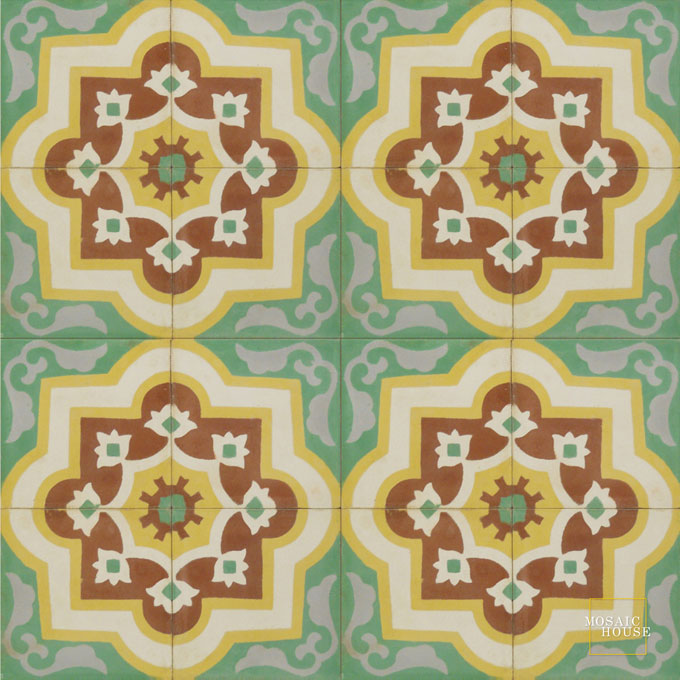 Waterlily C30-26-14-15 - moroccan cement tile
