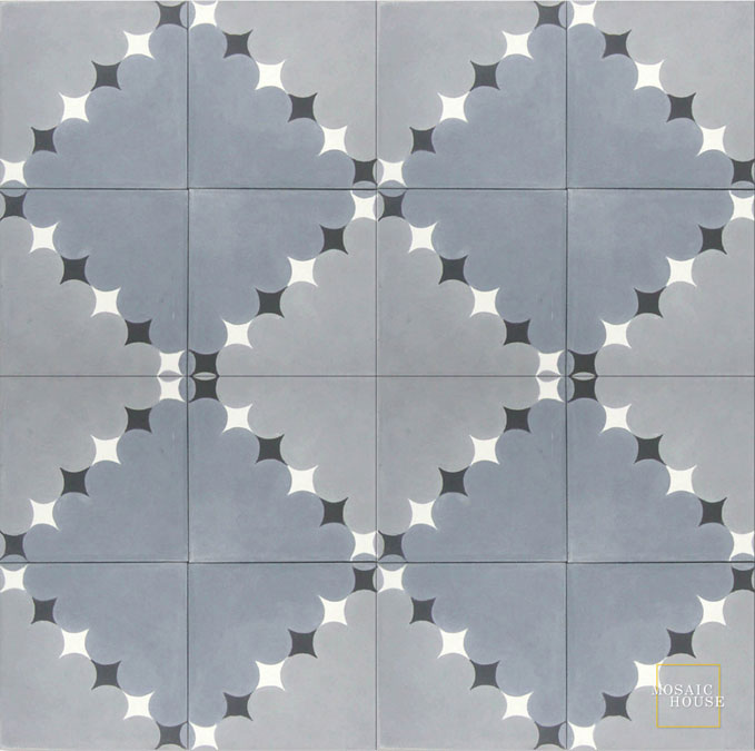 Wazo C24-33-14-4 - moroccan cement tile