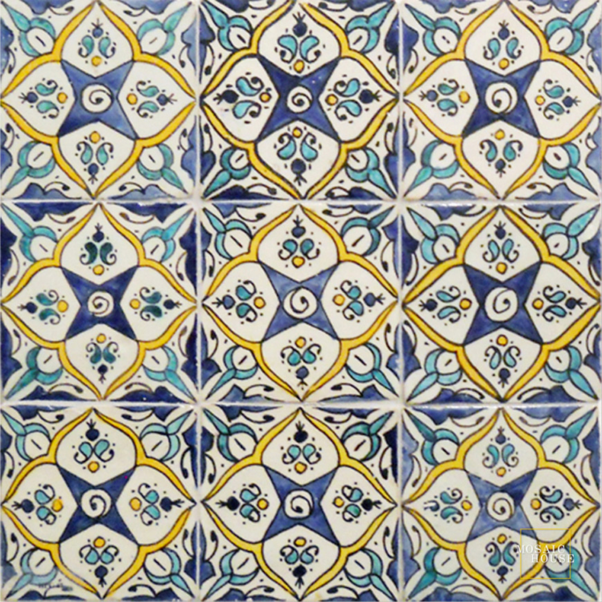 House Tiles hand painted tile from mosaic house
