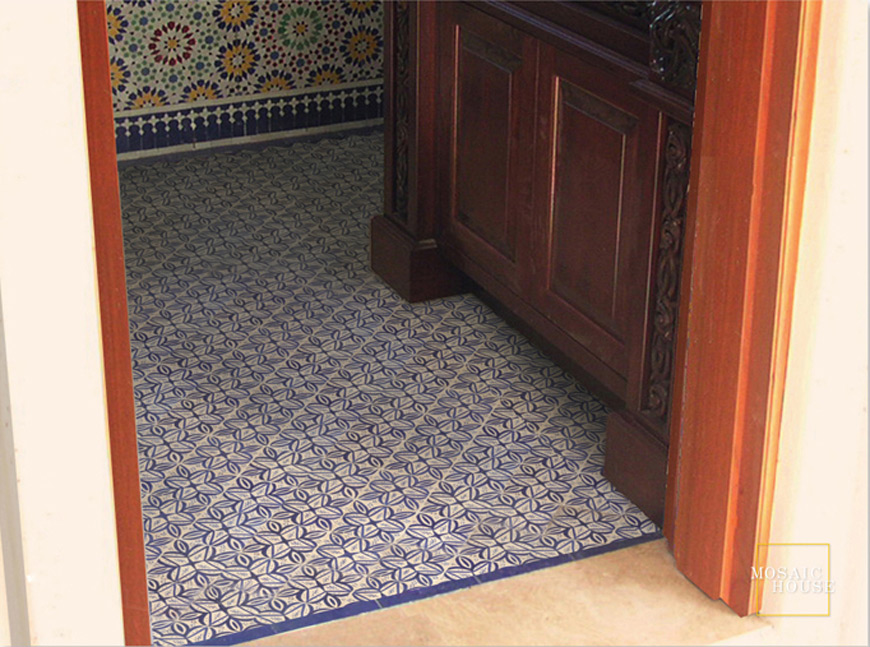 Mosaic House Moroccan tile Michel Blue 