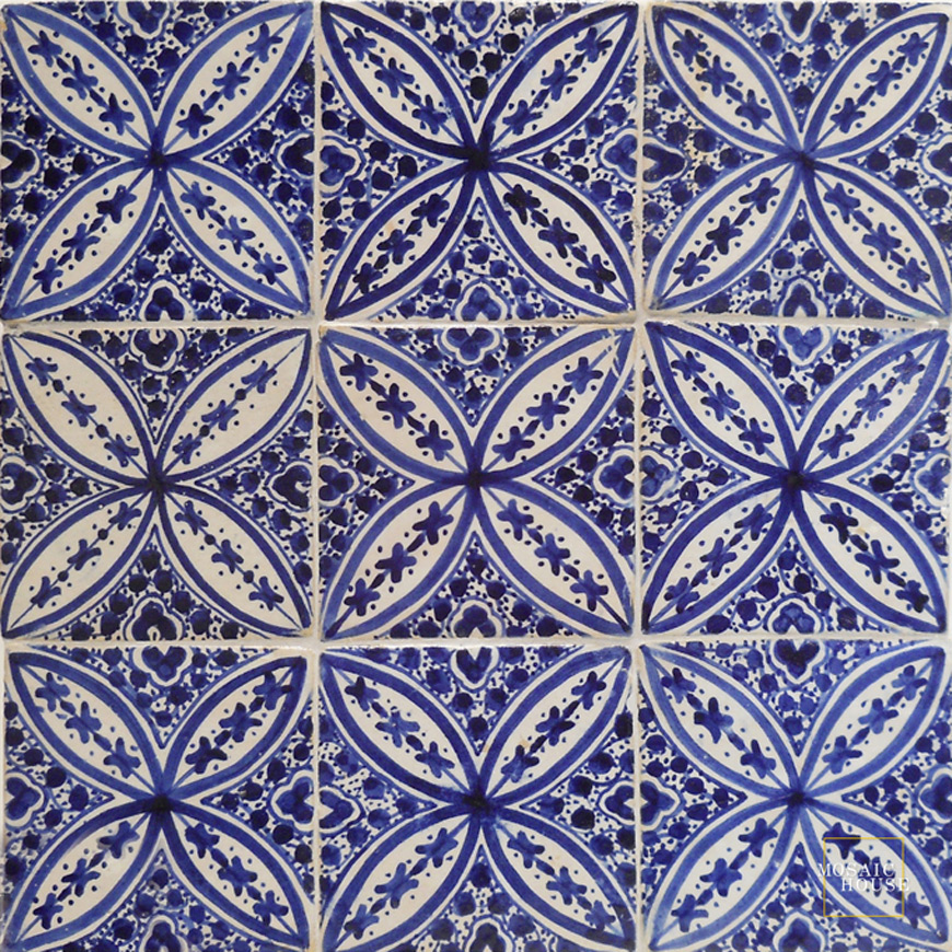 Hand Painted Tile from Mosaic House