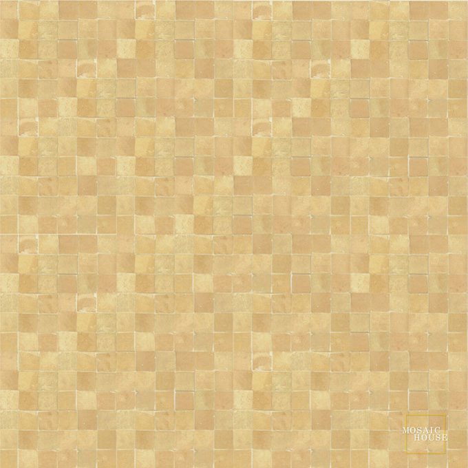 Mosaic House Moroccan tile Rceef 14 (unglazed) Natural, Unglazed, Terracotta  solid zellige, mosaic, zellij, field, pattern, glaze